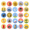 Tourism icons se vector color set on white Royalty Free Stock Photography
