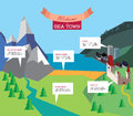 Tourism infographic vector resort illustration travel with notes good for presentation Royalty Free Stock Images