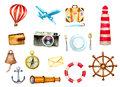 Tourism and nautical icons