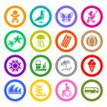 Tourism, Recreation & Vacation, icons set Royalty Free Stock Image