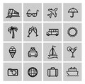 Tourism set icons this is file of eps format Stock Images