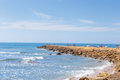 Tourism in spain. View of beach in Rota, Cadiz, Spain.