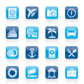 Tourism and travel icons vector icon set Stock Image