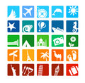 Tourism and vacation icons Stock Photo
