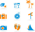 Tourism and vacation icons and logos - 2 Royalty Free Stock Images