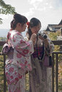 Tourism visitors to the Kiyomizu Temple in Kyoto Royalty Free Stock Photography