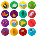 Tourismholiday, post, industry and other web icon in flat style.trade, business, nature icons in set collection. Royalty Free Stock Photo