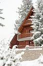 Tourist accomodation appartment winter Royalty Free Stock Photo