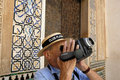 Tourist in the Alhambra,Granada Spain Royalty Free Stock Images
