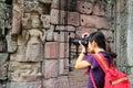 Tourist at Angkor Wat