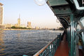 Tourist boat on the Nile river in Cairo, Egypt. Royalty Free Stock Photo