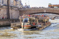 Tourist boat in Paris Royalty Free Stock Photo