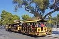 Tourist bus in mallorca spain touristic minibus Stock Photos