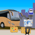 Tourist bus tour vector of Stock Photos