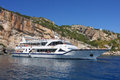Tourist cruise boat on zakinthos island greece Stock Image