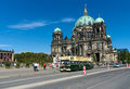 Tourist double decker bus on background berliner dom berlin september september in berlin germany Stock Photography