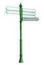 Tourist guidepost on white background Stock Photo