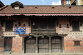 Tourist information building of office on the durbar square in patan nepal Stock Photos