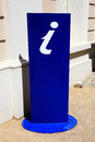 Tourist information sign a blue uk displayed on a stand Royalty Free Stock Images