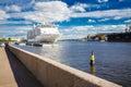 Tourist liner moored