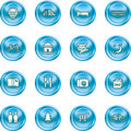 Tourist locations icon set Royalty Free Stock Photo