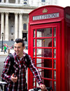 Tourist in london portrait of a Royalty Free Stock Photography