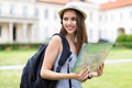 Tourist with Map Royalty Free Stock Photo