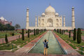 Tourist photographing Taj Mahal in Agra, Uttar Pradesh, India