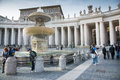 Tourist and pilgrims in san peter s square vatican city vatican city state march more people st the vatican city a summer day Stock Image