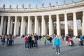 Tourist and pilgrims in san peter s square vatican city vatican city state march more people st the vatican a summer day admire Royalty Free Stock Image