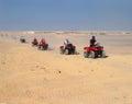 Tourist rally on ATVs in Hurghada Royalty Free Stock Photo