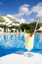 Tourist resort with drink Stock Images