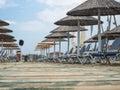 Tourist resort, summer season scene, Mediterranean Sea Royalty Free Stock Photo