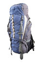 Tourist rucksack under the light background Stock Photography