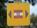 Tourist signposting niederösterreich state austria Stock Images