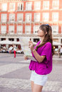 Tourist in Spain. Royalty Free Stock Photo
