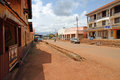 Tourist street of masindi uganda september looking down the that all the tour vehicles stop at for shopping on the way to Royalty Free Stock Photo