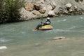 Tourist surfs the whitewater saklikent turkey may emerging from saklikent gorge in turkey Stock Image