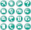 Tourist travel icon set Royalty Free Stock Photo