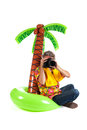 Tourist on tropical vacation Royalty Free Stock Photo