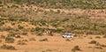Tourist van at Masai Mara Royalty Free Stock Photo