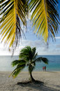 Tourist visit aitutaki lagoon cook islands couple of on honeymoon vacation in Stock Photo