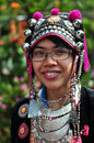 The tourist wear tribal costumes of Miao Tribal to enjoy for take photo