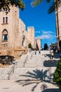 Touristes sur les rues de palma de majorca Photo stock