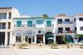 Touristic center of larnaca numerous restaurants cafes and shops church saint lazarus square Stock Image