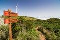 Touristic trail in Madeirdan plateau Paul da Serra Royalty Free Stock Photo