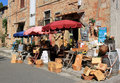 Touristic wine shop in Bolgheri, Tuscany in Italy Stock Photography