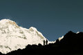 image photo : Tourists in Annapurna Base camp