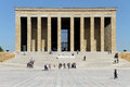 Tourists ataturk mausoleum ankara turkey Royalty Free Stock Photography