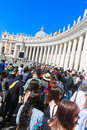 Tourists and believers in vatican city italy april Royalty Free Stock Images